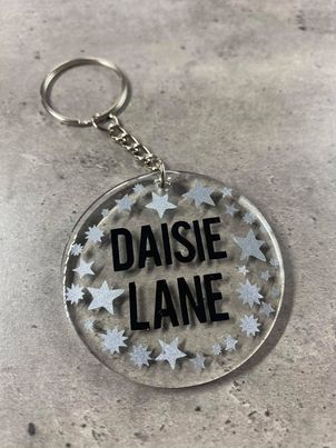 Personalised Star Keyring