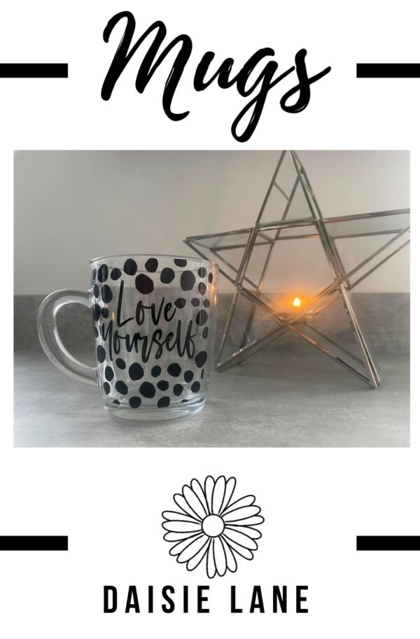 Personalised Glass Mug – Polka Dot