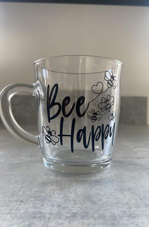Personalised Glass Mug – ANY DESIGN