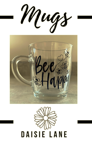 Personalised Glass Mug – Custom Design
